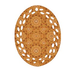 Intricate Modern Baroque Seamless Pattern Oval Filigree Ornament (Two Sides)