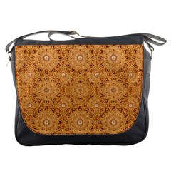 Intricate Modern Baroque Seamless Pattern Messenger Bags