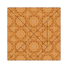 Intricate Modern Baroque Seamless Pattern Acrylic Tangram Puzzle (6  x 6 )