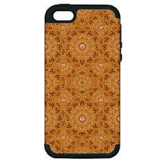 Intricate Modern Baroque Seamless Pattern Apple iPhone 5 Hardshell Case (PC+Silicone)