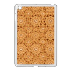 Intricate Modern Baroque Seamless Pattern Apple iPad Mini Case (White)