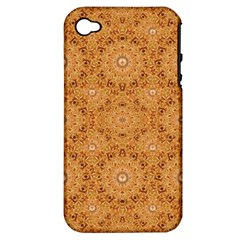 Intricate Modern Baroque Seamless Pattern Apple iPhone 4/4S Hardshell Case (PC+Silicone)