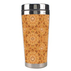 Intricate Modern Baroque Seamless Pattern Stainless Steel Travel Tumblers