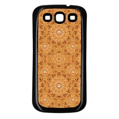 Intricate Modern Baroque Seamless Pattern Samsung Galaxy S3 Back Case (Black)