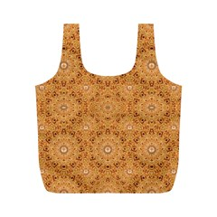 Intricate Modern Baroque Seamless Pattern Full Print Recycle Bags (M)
