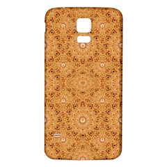 Intricate Modern Baroque Seamless Pattern Samsung Galaxy S5 Back Case (White)