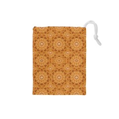 Intricate Modern Baroque Seamless Pattern Drawstring Pouches (Small)