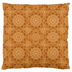 Intricate Modern Baroque Seamless Pattern Large Flano Cushion Case (One Side)