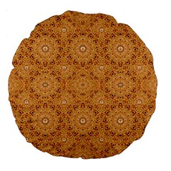 Intricate Modern Baroque Seamless Pattern Large 18  Premium Flano Round Cushions