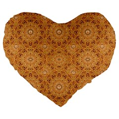 Intricate Modern Baroque Seamless Pattern Large 19  Premium Flano Heart Shape Cushions