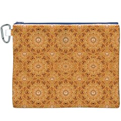 Intricate Modern Baroque Seamless Pattern Canvas Cosmetic Bag (XXXL)