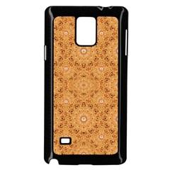 Intricate Modern Baroque Seamless Pattern Samsung Galaxy Note 4 Case (Black)