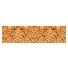 Intricate Modern Baroque Seamless Pattern Satin Scarf (Oblong)