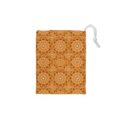 Intricate Modern Baroque Seamless Pattern Drawstring Pouches (XS)