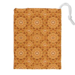 Intricate Modern Baroque Seamless Pattern Drawstring Pouches (XXL)
