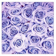Electric white and blue roses Large Satin Scarf (Square)