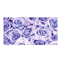 Electric white and blue roses Satin Wrap