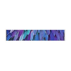 Blue bird feather Flano Scarf (Mini)
