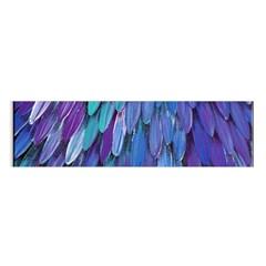 Blue bird feather Satin Scarf (Oblong)