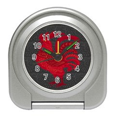 Red fire chicken year Travel Alarm Clocks