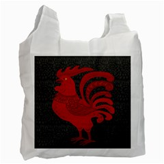 Red fire chicken year Recycle Bag (Two Side)