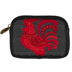 Red fire chicken year Digital Camera Cases