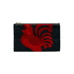 Red fire chicken year Cosmetic Bag (Small)