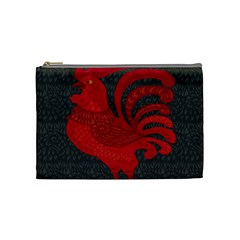 Red fire chicken year Cosmetic Bag (Medium)