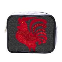 Red fire chicken year Mini Toiletries Bags