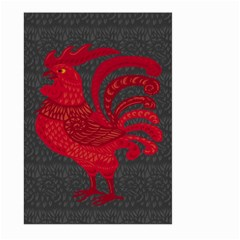 Red fire chicken year Large Garden Flag (Two Sides)