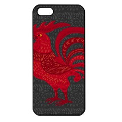 Red fire chicken year Apple iPhone 5 Seamless Case (Black)