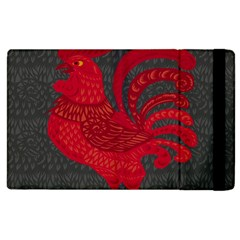 Red fire chicken year Apple iPad 3/4 Flip Case