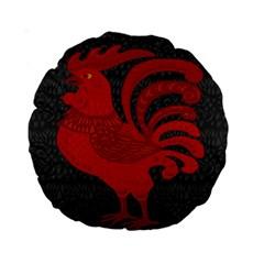 Red fire chicken year Standard 15  Premium Round Cushions