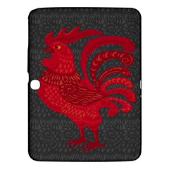 Red fire chicken year Samsung Galaxy Tab 3 (10.1 ) P5200 Hardshell Case