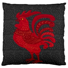 Red fire chicken year Large Flano Cushion Case (One Side)