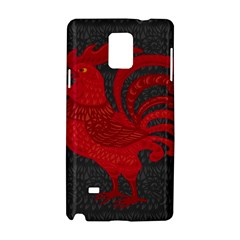 Red fire chicken year Samsung Galaxy Note 4 Hardshell Case