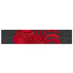 Red fire chicken year Flano Scarf (Small)