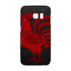 Red fire chicken year Galaxy S6 Edge