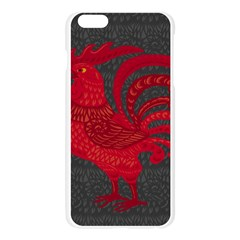 Red fire chicken year Apple Seamless iPhone 6 Plus/6S Plus Case (Transparent)