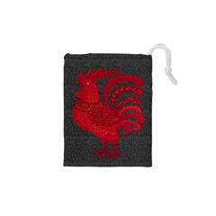 Red fire chicken year Drawstring Pouches (XS)