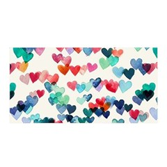Cute rainbow hearts Satin Wrap