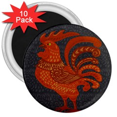 Chicken year 3  Magnets (10 pack)