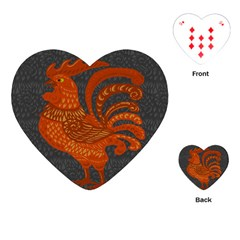 Chicken year Playing Cards (Heart)