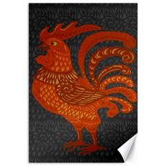 Chicken year Canvas 12  x 18