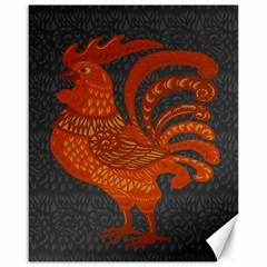 Chicken year Canvas 16  x 20