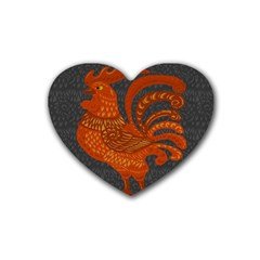 Chicken year Rubber Coaster (Heart)