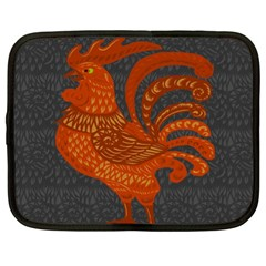 Chicken year Netbook Case (XL)