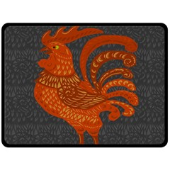 Chicken year Fleece Blanket (Large)
