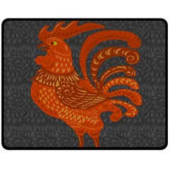 Chicken year Fleece Blanket (Medium)