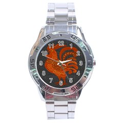 Chicken year Stainless Steel Analogue Watch
